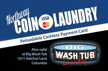 Columbia TN Northway Coin Laundry Loyalty Card Program